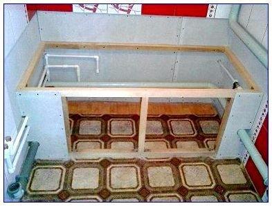 Экран под ванну своими руками - подробная инструкция