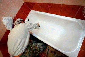 восстановление эмали чугунной ванны