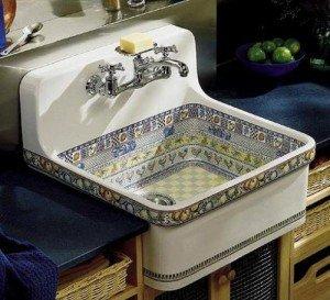 Декоративная отделка керамических раковин для кухни