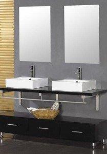 Двойная раковина для ванной: материалы