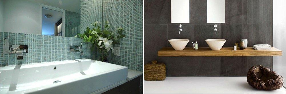 Парные раковины для ванной и туалета