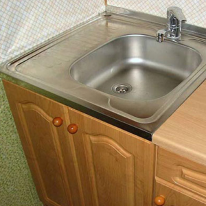 Cборка накладной кухонной мойки