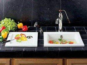 Керамическая раковина для кухни