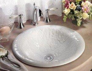встраиваемые керамические раковины для ванной