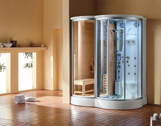 Душевая кабина с легкостью вписывается в интерьер ванной комнаты