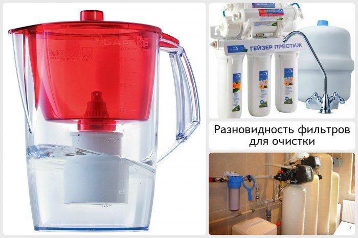 Разновидность фильтров для очистки