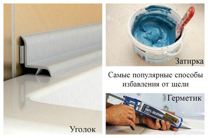 используемые материалы при затирке  удалении щели