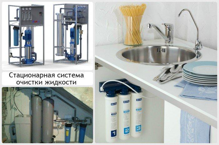 Стационарная система очистки жидкости