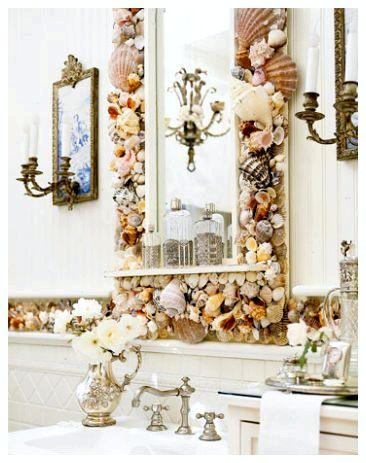 Декорированное зеркало своими руками