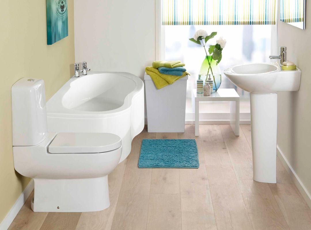 Унитаз, совмещенный с бачком в интерьере ванной комнаты