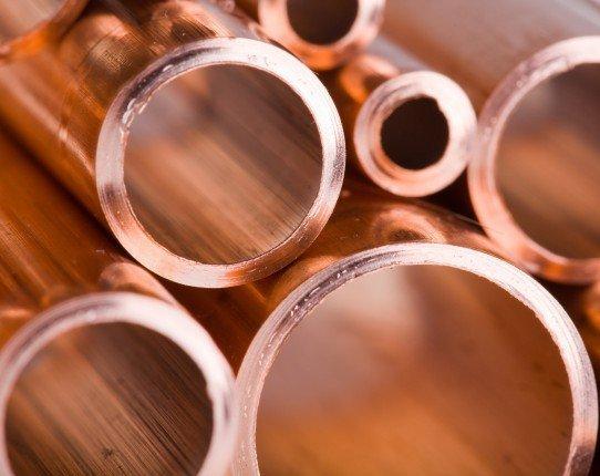 Медные трубы разного диаметра