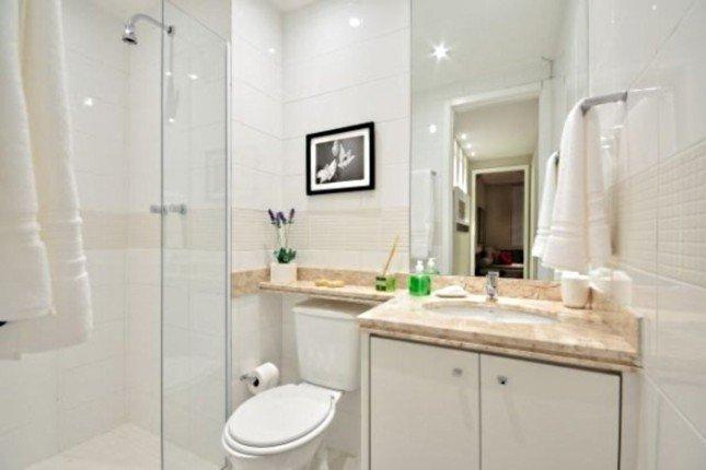 изображение душевой кабины в интерьере ванной