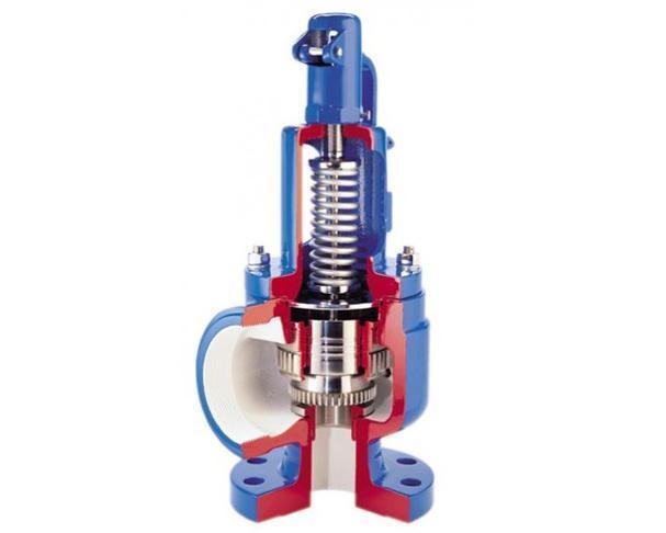 Схематическое изображение конструкция предохранительного клапана