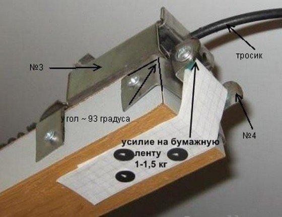 Установка бумажной ленты
