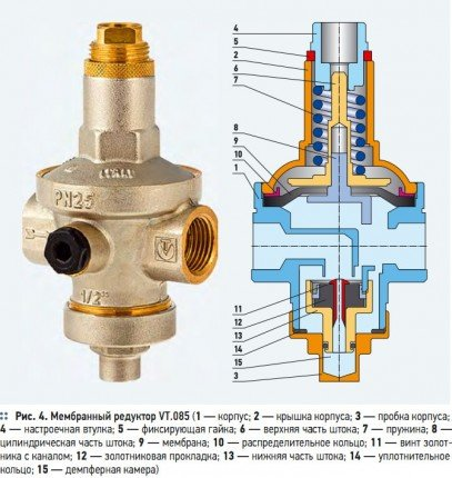 Мембранный регулятор давления