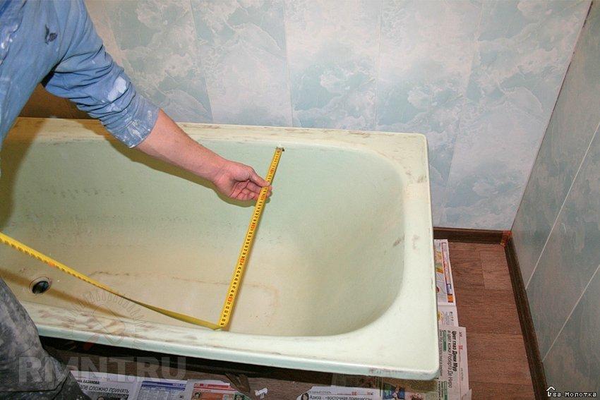 Ремонт акриловых ванн своими руками