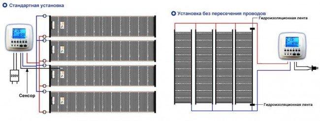 схема подключения термопленки