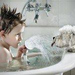 Каково устройство смесителя для ванной?