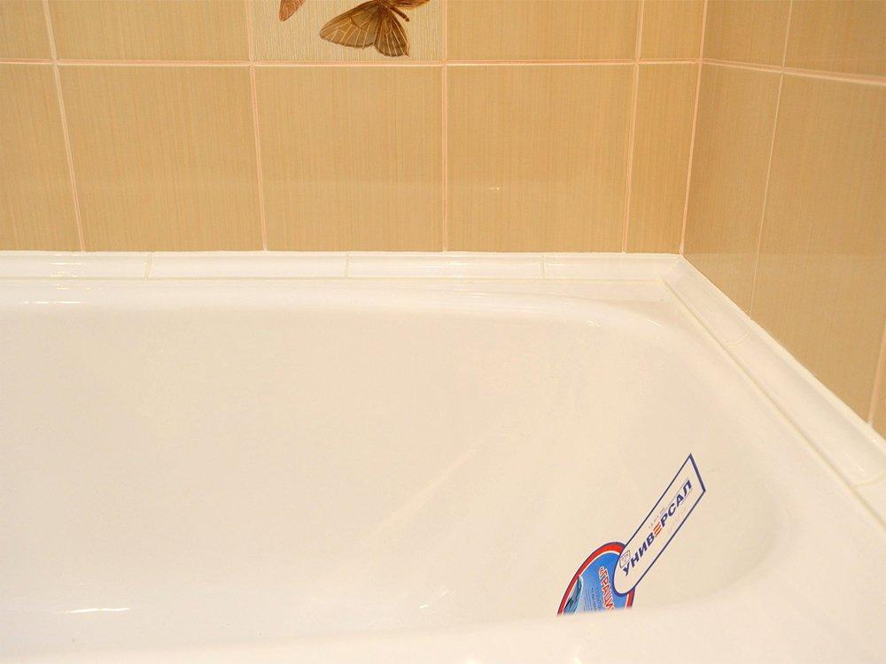 Как сделать стык ванны и стены