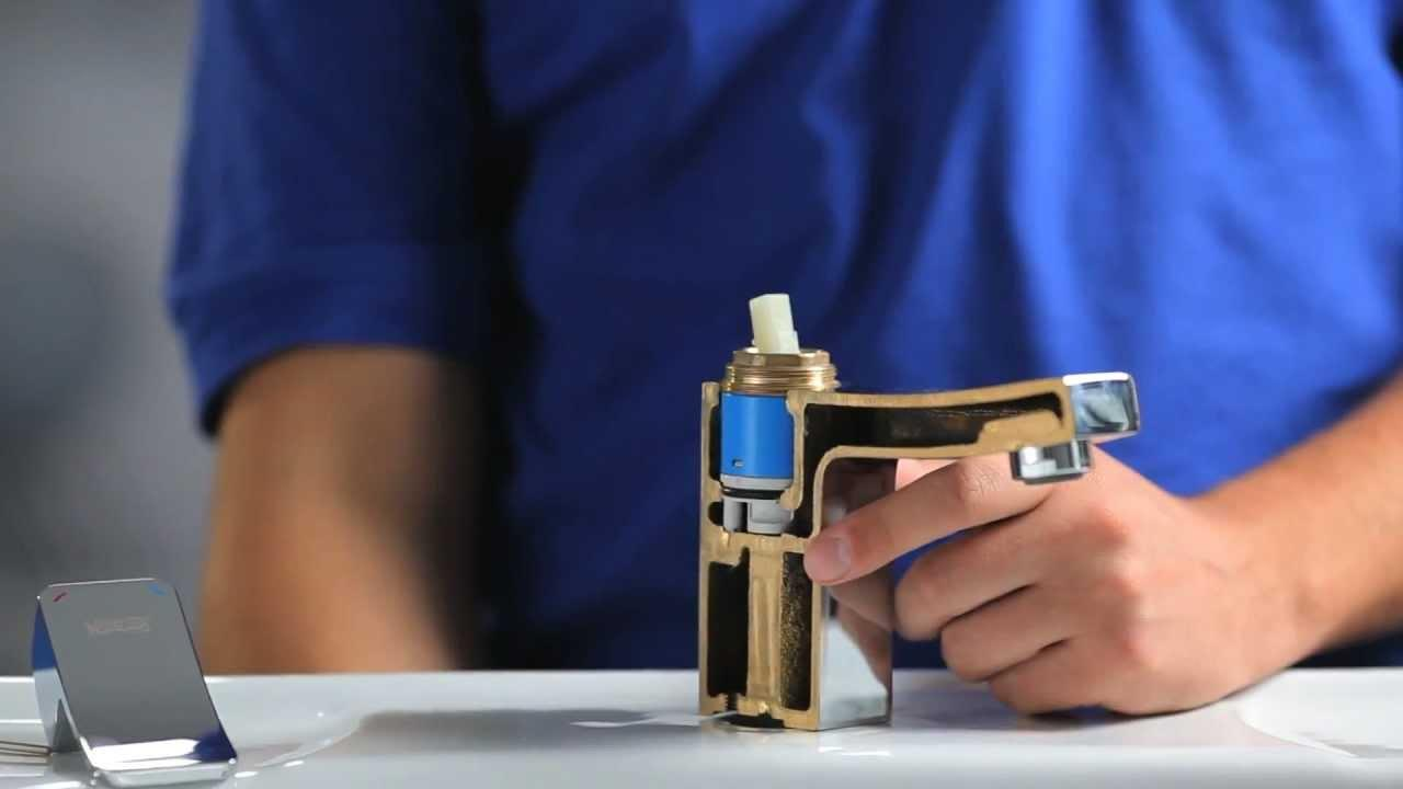 Как заменить картридж в рычажном смесителе?