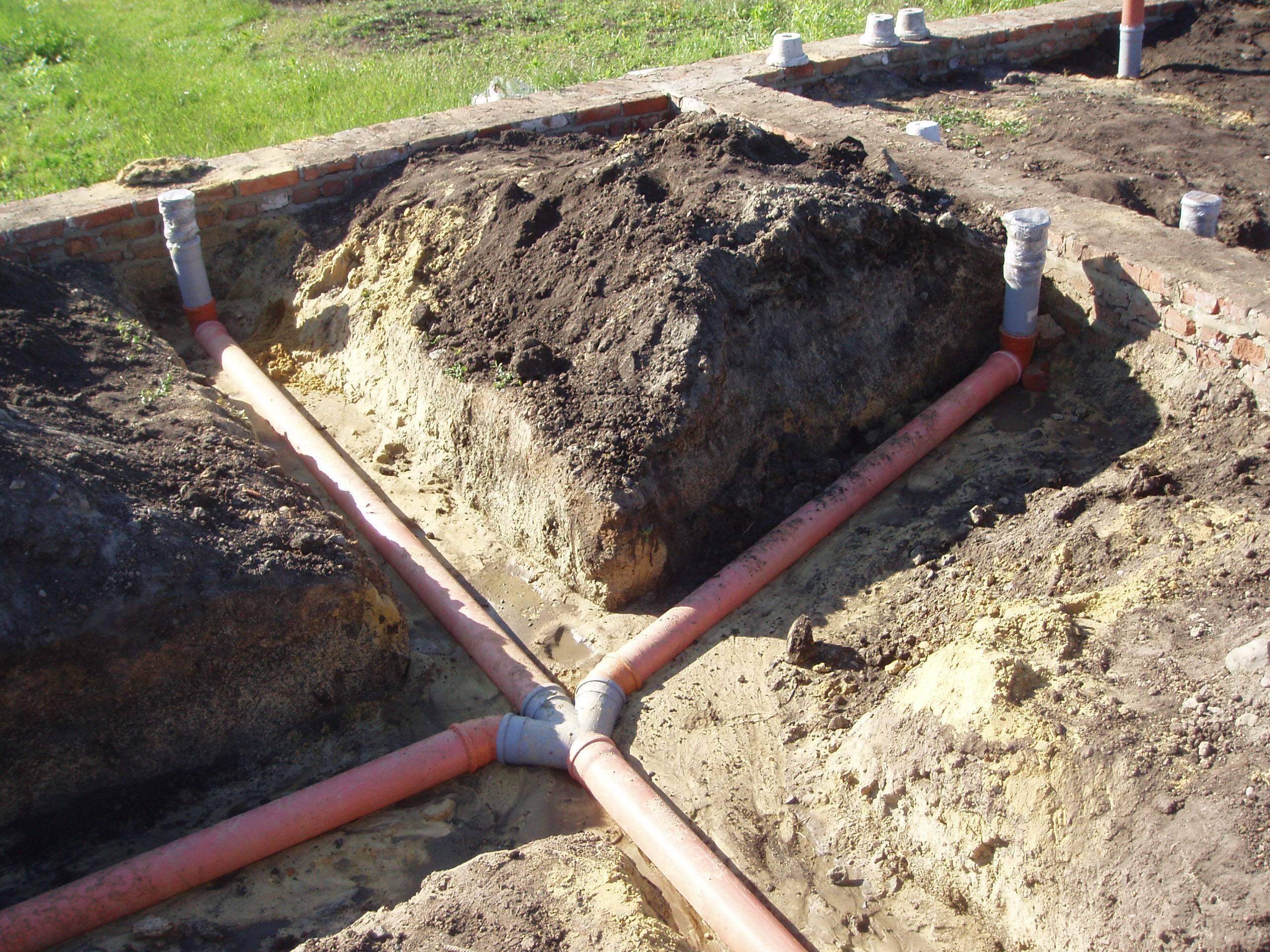 Разводка канализации в частном доме своими руками