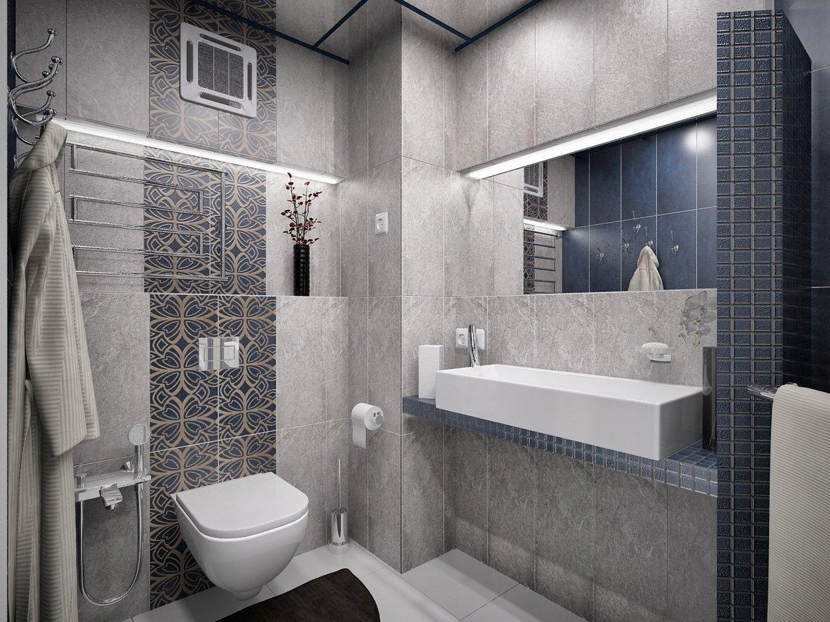 Дизайн ванной в стиле хай тек