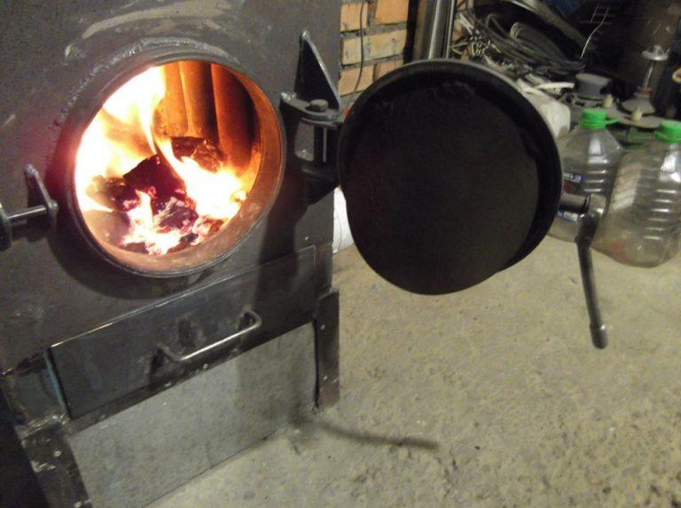 Печь в гараж на угле своими руками 498