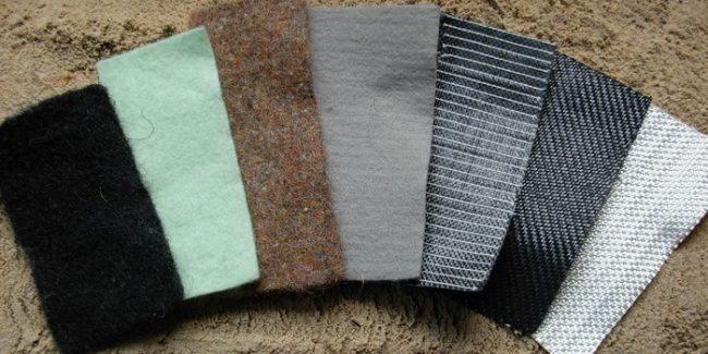 Примеры геотекстиля разной плотности и дизайна