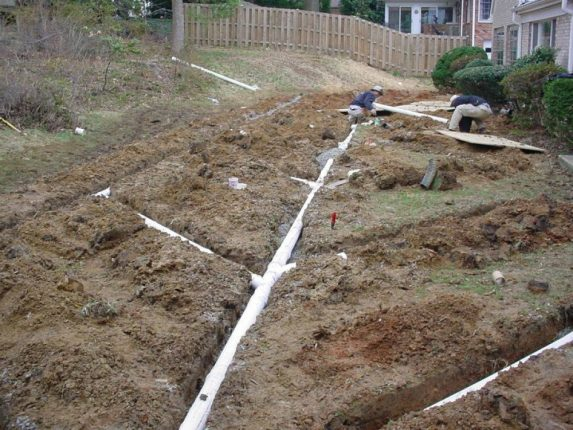 Дренаж на глинистых почвах