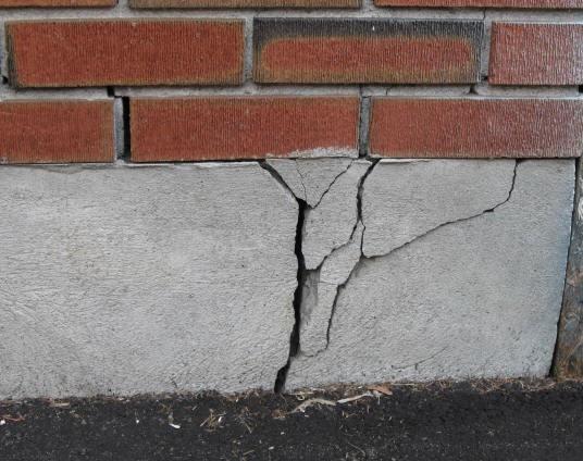 Разрушение фундамента