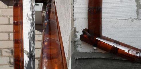 Система труб из пластиковых бутылок