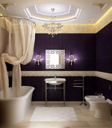 Светильники в ванной в классическом стиле