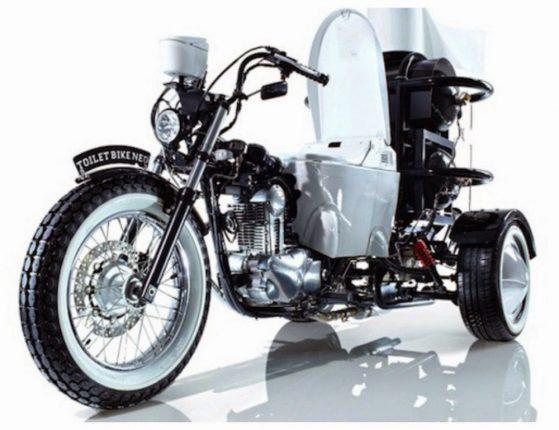 Унитаз-мотоцикл