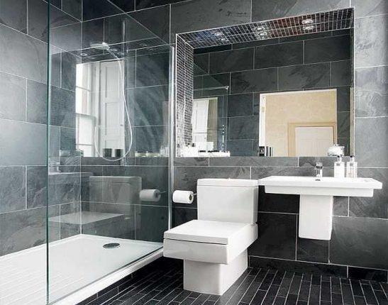 Оформление ванной комнаты, совмещённой с туалетом