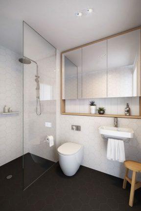 Оформление ванной, совмещённой с туалетом