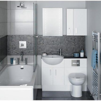 Дизайн интерьера небольшой ванной комнаты