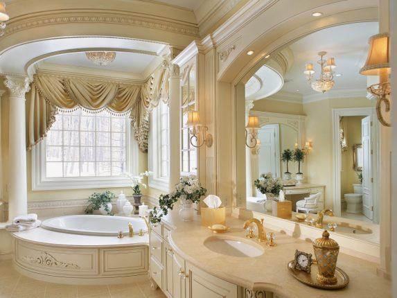 Самая роскошная ванная комната в светлых тонах