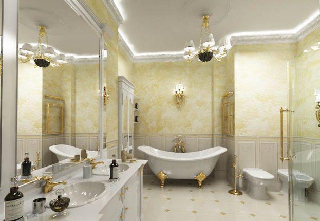 Классический стиль в дизайне ванной комнаты