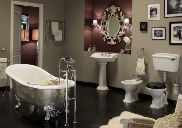 Современная ванная комната в классическом стиле