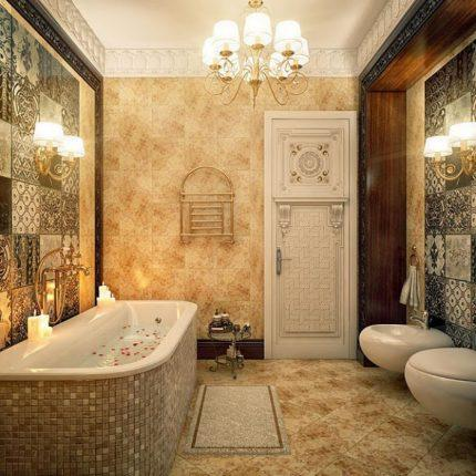Камень в дизайне ванной комнаты