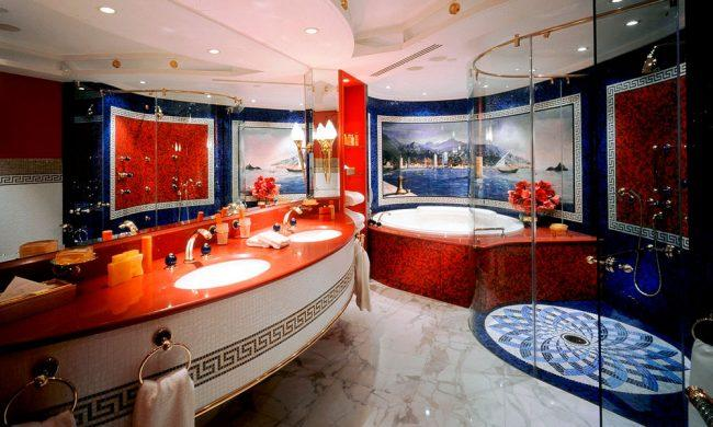 Элегантный и современный дизайн роскошной ванной комнаты