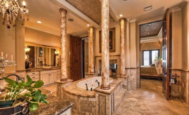 Сказочно роскошный дизайн ванной комнаты