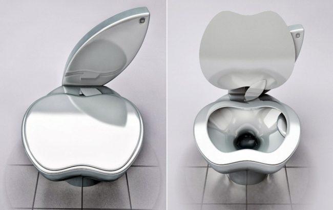 Унитаз в форме яблока