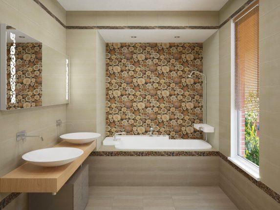 панно в ванную комнату из плитки