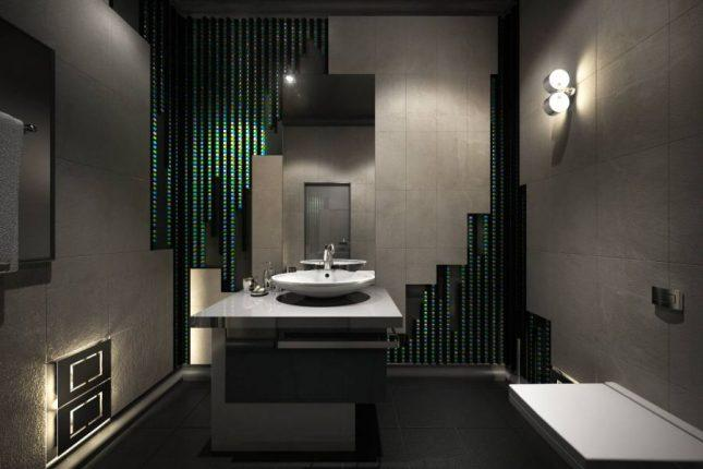 Оригинальный дизайн ванной комнаты со светодиодной подсветкой