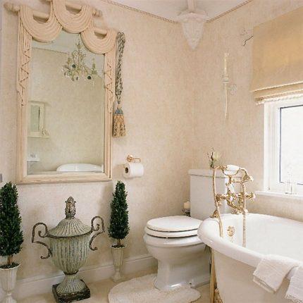 Роскошная ванная в дворцовом стиле