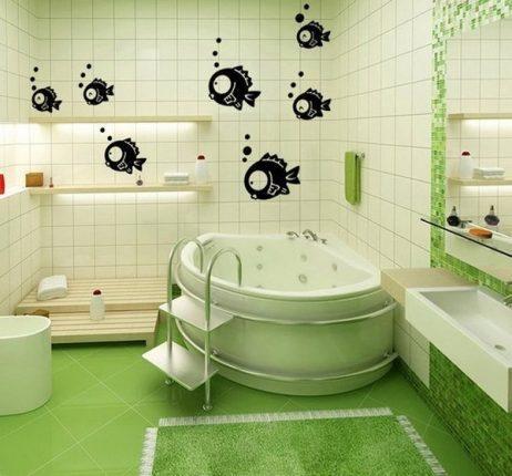 Оригинальный декор ванной комнаты