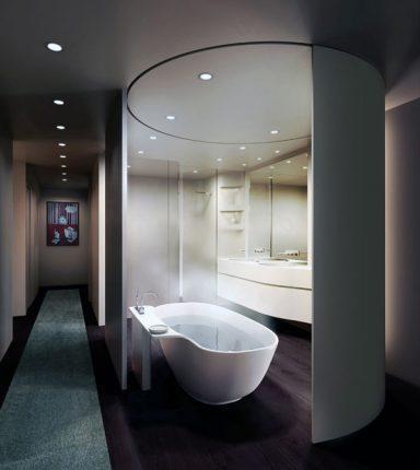 Современный и лаконичный дизайн ванной комнаты