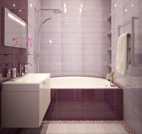 бюджетный дизайн ванной комнаты в стиле минимализм