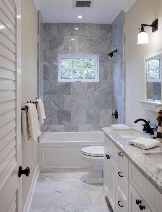 Интерьер прямоугольной ванной